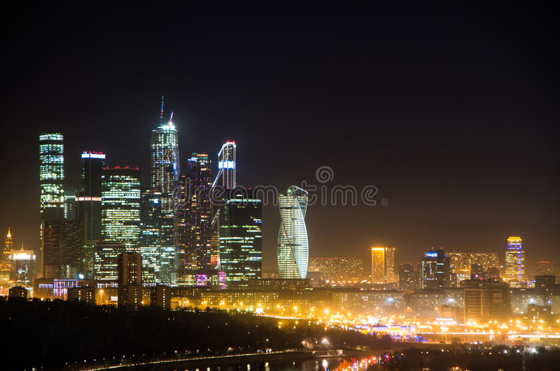 Mening van de stad van Moskou royalty-vrije stock afbeeldingen