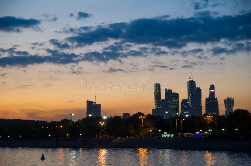 Mening van de stad van Moskou royalty-vrije stock fotografie
