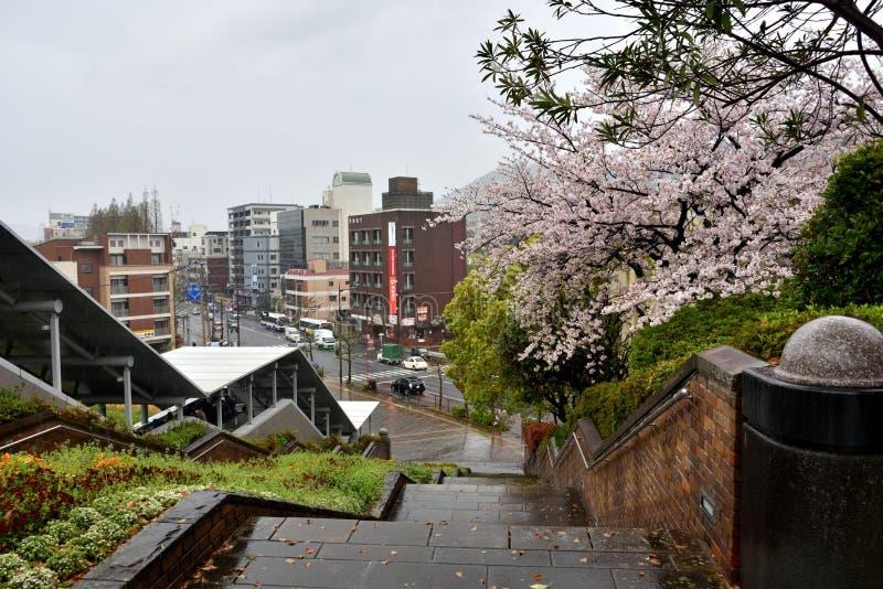 Mening van de stad van Nagasaki, Japan royalty-vrije stock fotografie