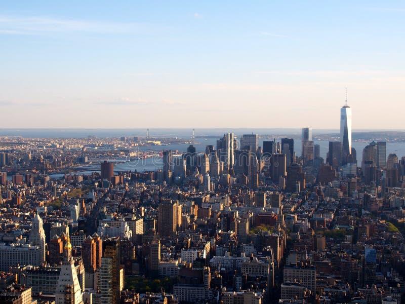 Mening van de Stad van New York stock foto