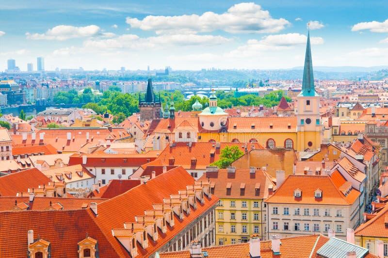 Mening van de stad van Praag royalty-vrije stock fotografie