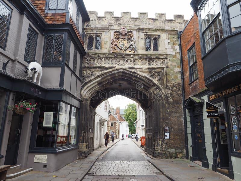 Mening van de stad van Salisbury royalty-vrije stock foto