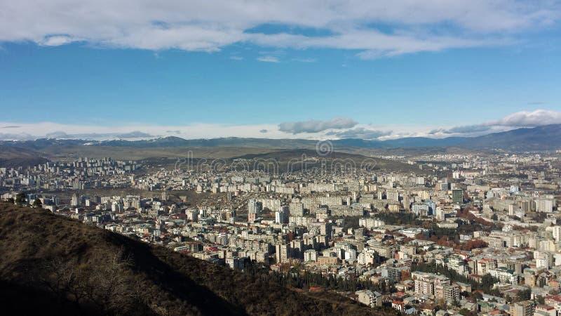 Mening van de stad van Tbilisi royalty-vrije stock afbeeldingen