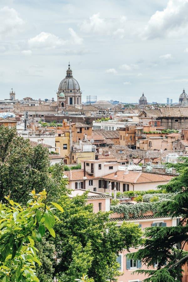 Mening van de stad van Villa Borghese in Rome royalty-vrije stock foto