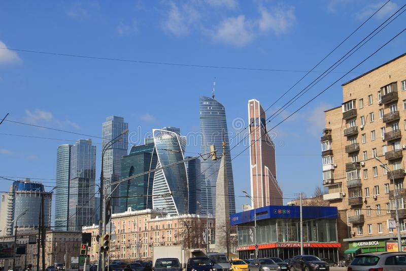 Mening van de de Stadstorens van Moskou stock foto