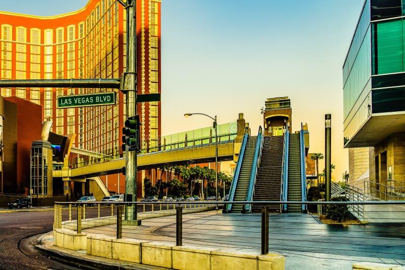 Mening van de Strook van Las Vegas in Nevada de V.S. stock afbeeldingen