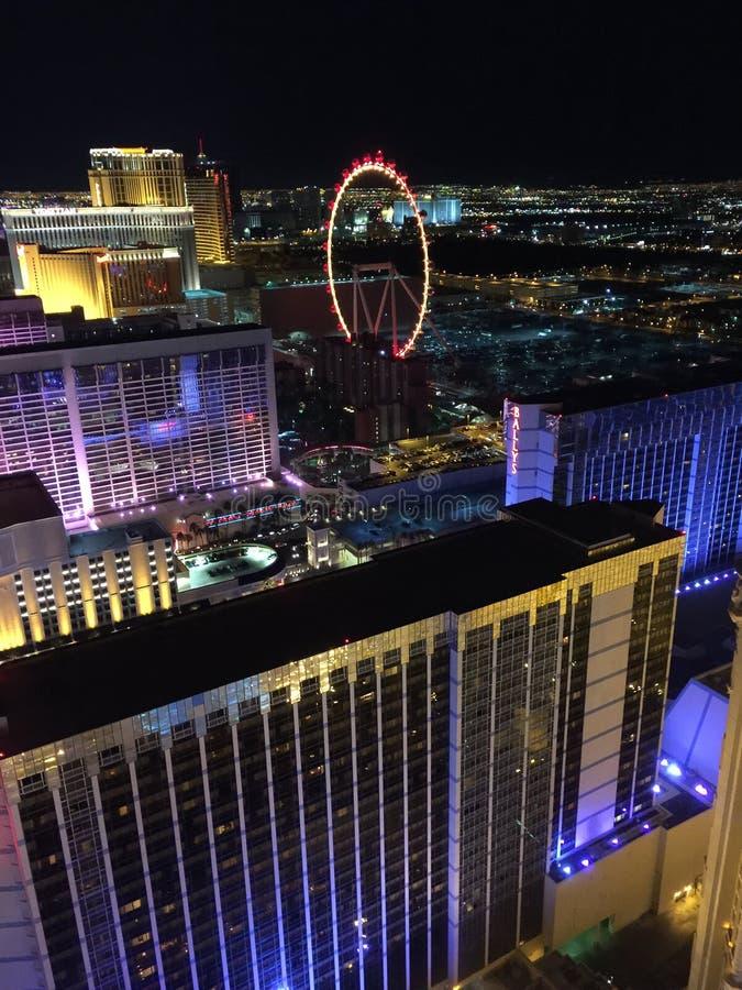 Mening van de Strook van Las Vegas van de Toren van Eiffel stock foto's
