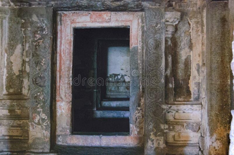 Mening van de tempel van Bala Krishna in Hampi, Karnataka, India royalty-vrije stock afbeelding