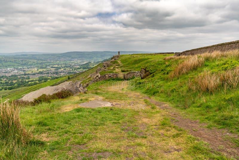 Mening van de Top van Wainman ` s, North Yorkshire, Engeland, het UK stock fotografie