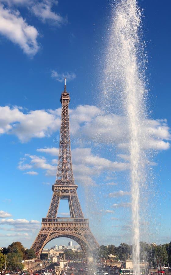 Mening van de Toren van Eiffel van Trocadero royalty-vrije stock afbeelding