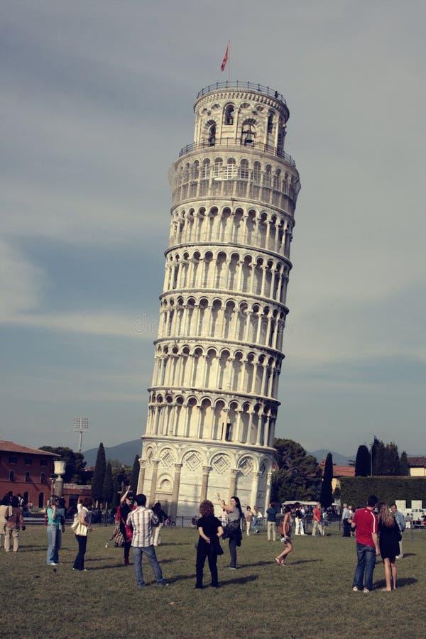 Mening van de Toren Pisa royalty-vrije stock foto