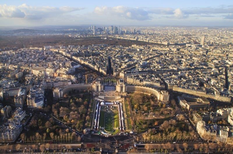 Mening van de Toren van Eiffel stock foto