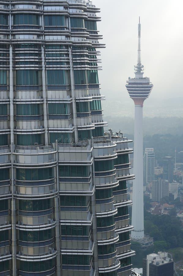 Mening van de Tweelingtorens van Petronas royalty-vrije stock afbeelding