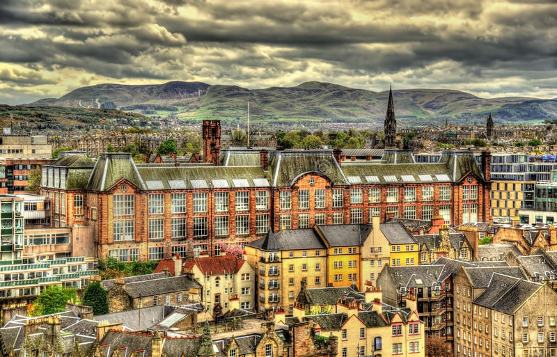 Mening van de Universiteit van Edinburgh van Art. royalty-vrije stock fotografie