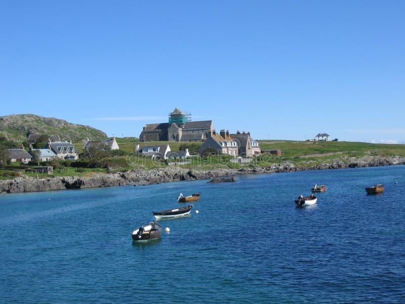 Mening van de veerboot aan Iona royalty-vrije stock afbeeldingen