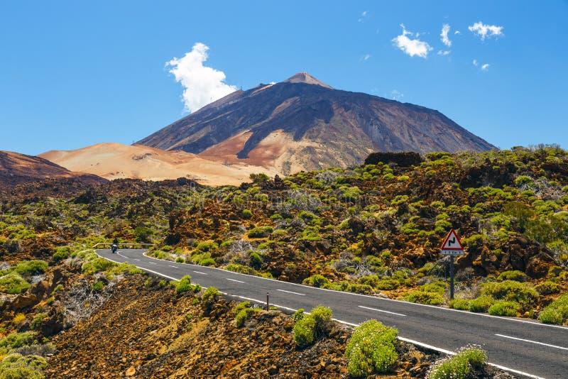 Mening van de vulkaan Gr Teide stock fotografie