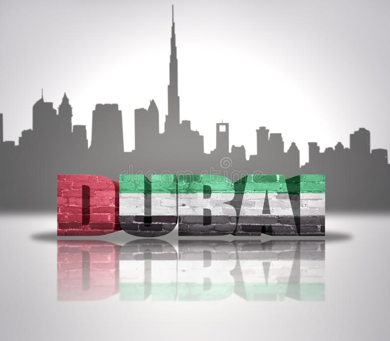 Mening van Doubai royalty-vrije illustratie