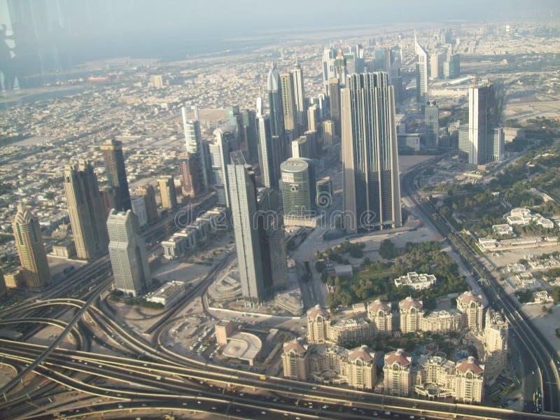 Mening van Doubai van een hoogte Verenigde Arabische emiraten stock foto's