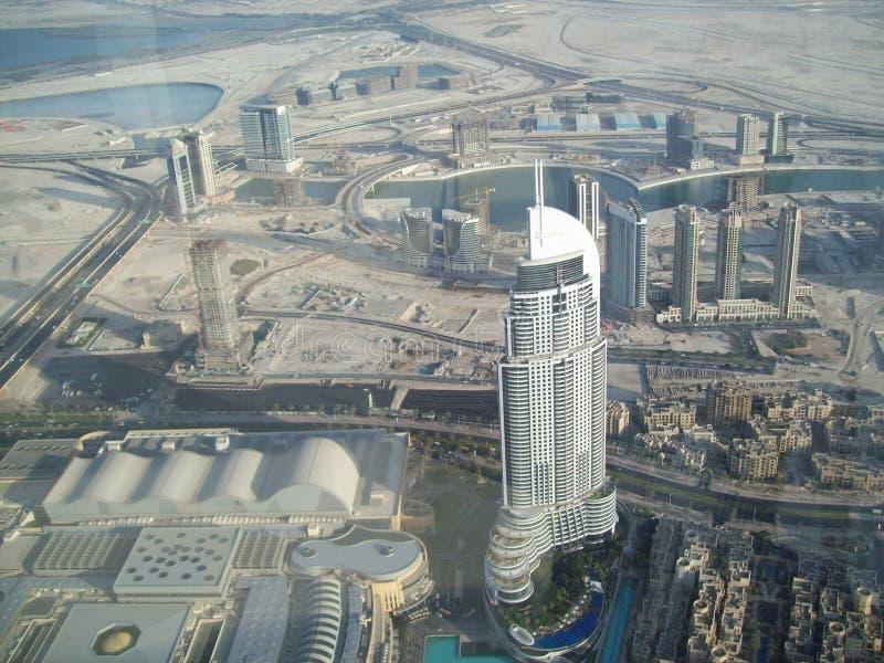 Mening van Doubai van een hoogte Verenigde Arabische emiraten stock foto