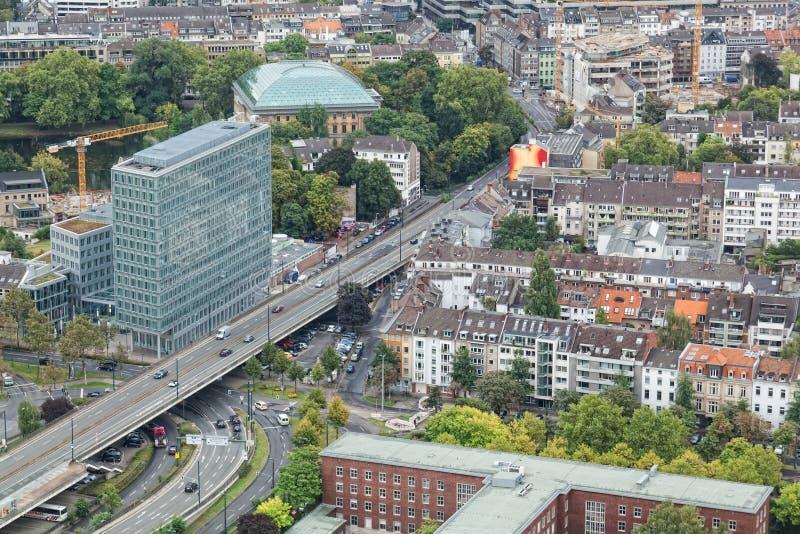 Mening van Dusseldorf royalty-vrije stock foto