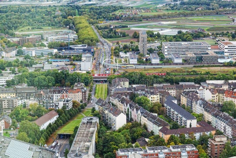 Mening van Dusseldorf stock foto's