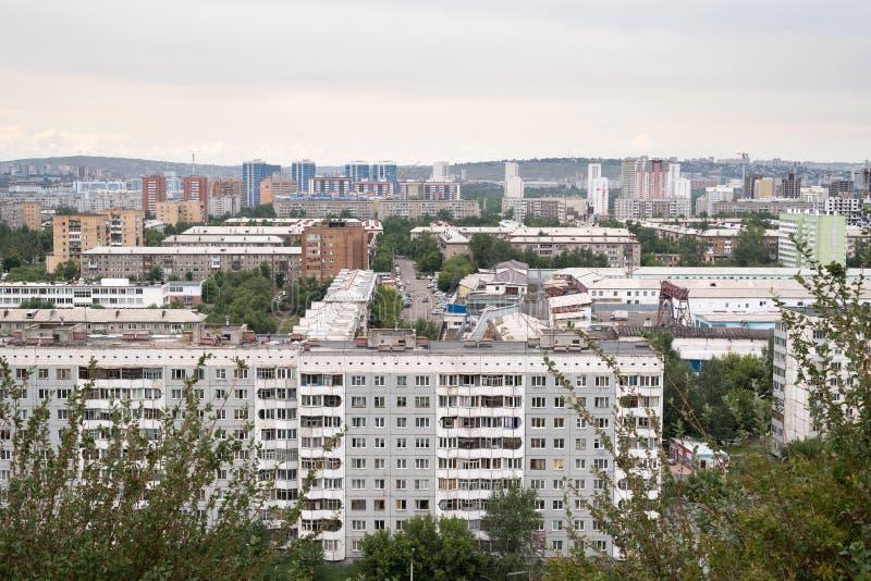 Mening van een gemeenschappelijke Russische stad stock foto's