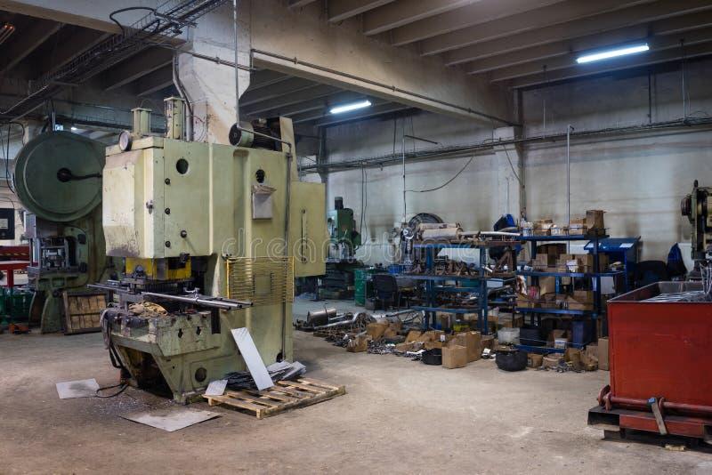 Mening van een industriële zaal stock foto