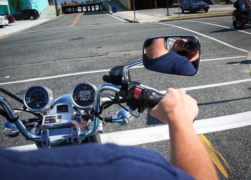 Mening van een Motorfiets stock foto's