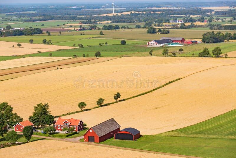 Mening van een plattelandslandbouwbedrijf stock fotografie