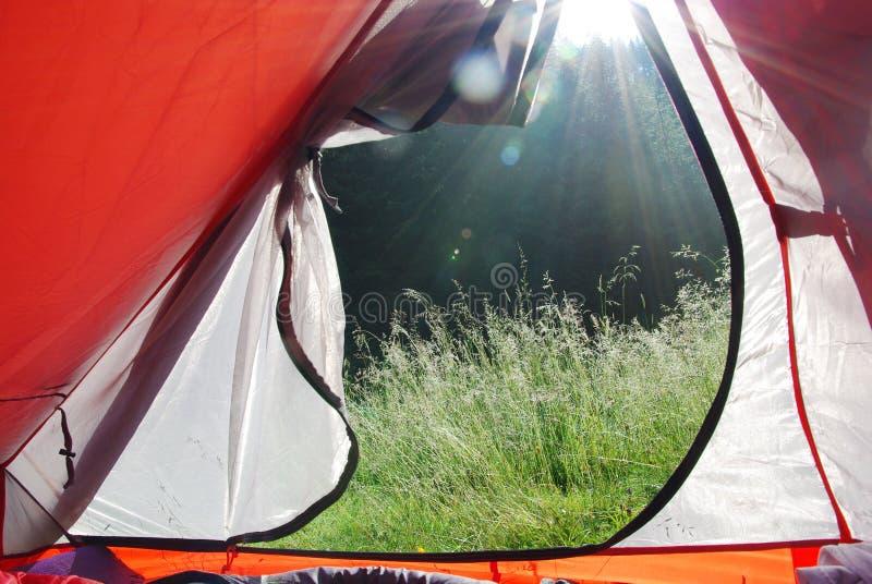 Mening van een tent stock foto