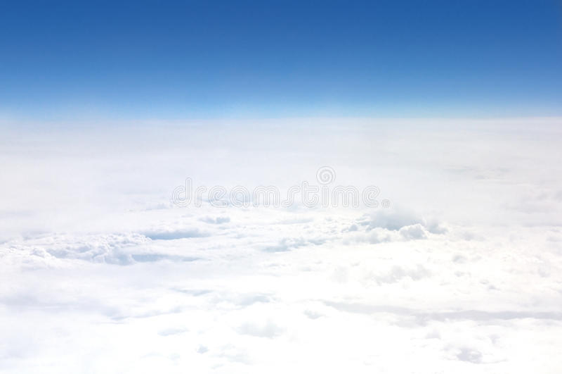 Mening van een vliegtuig stock foto