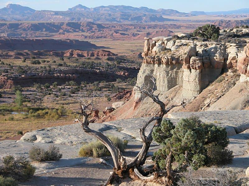 Mening van een Weg Tusen staten van Utah royalty-vrije stock fotografie
