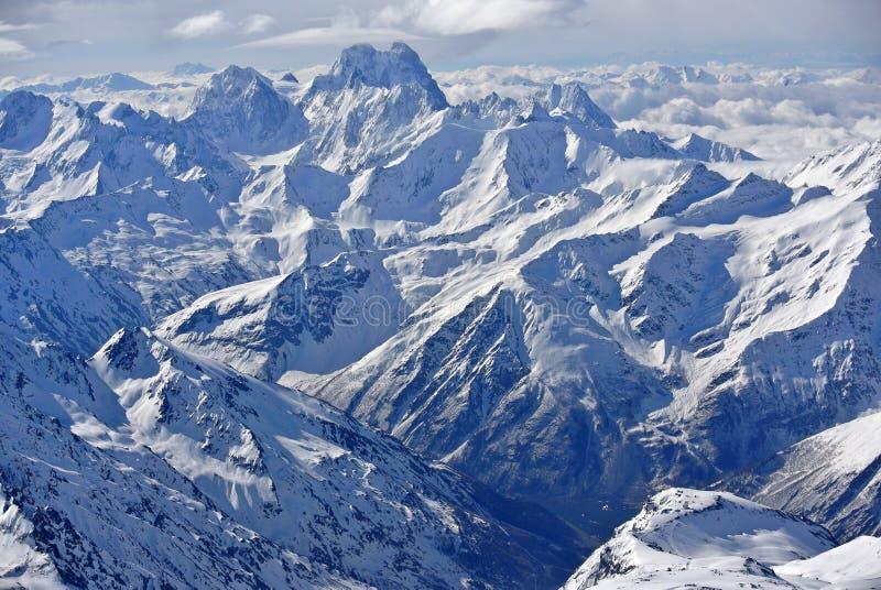 Mening van Elbrus stock foto
