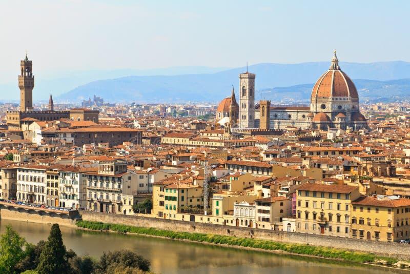 Mening van Florence/Florence, Toscanië, Italië stock foto's