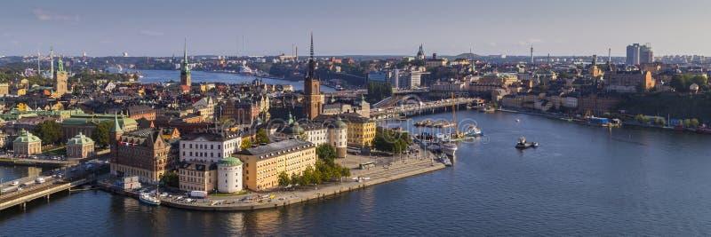 Mening van Gamla Stan in Stockholm stock foto