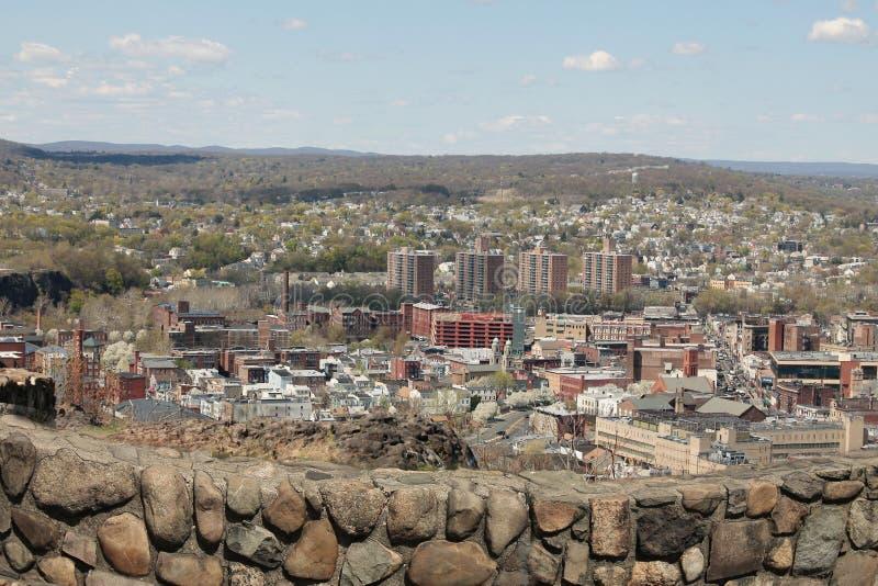 Mening van Garret Mountain aan Paterson-stad NJ de V.S. royalty-vrije stock foto's