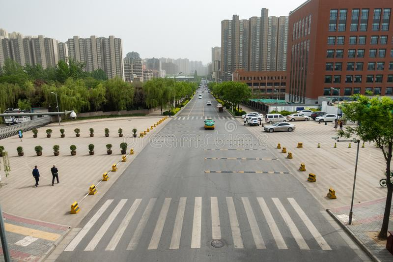 Mening van Gebouwen rond Xi'an-Universiteit van Technologie Qu Jiang royalty-vrije stock foto