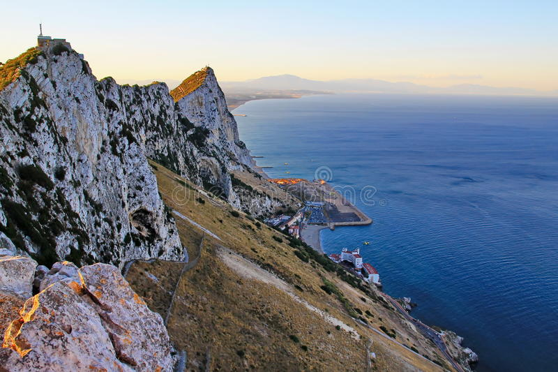 Mening van Gibraltar stock foto's