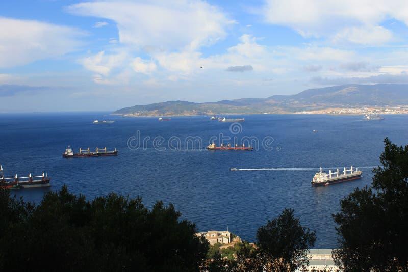 Mening van Gibraltar stock afbeeldingen