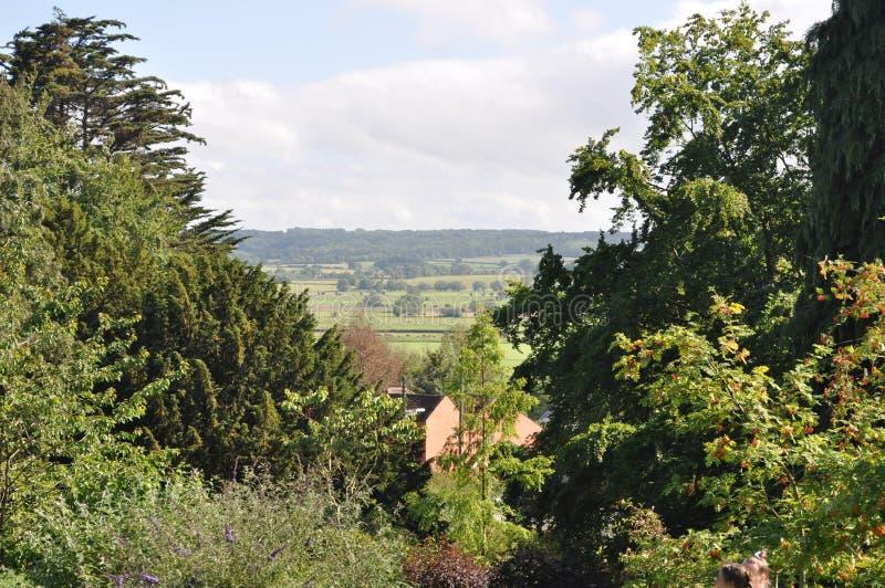 Mening van Glastonbury-Miskelk goed royalty-vrije stock fotografie