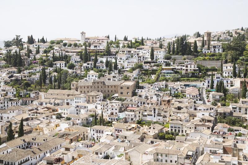 Mening van Granada royalty-vrije stock foto's