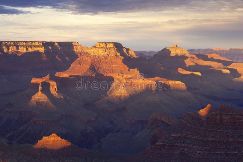 Mening van Grote Canion bij zonsondergang royalty-vrije stock afbeelding