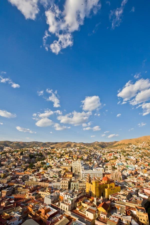 Mening van Guanajuato-stad, Mexico royalty-vrije stock afbeeldingen