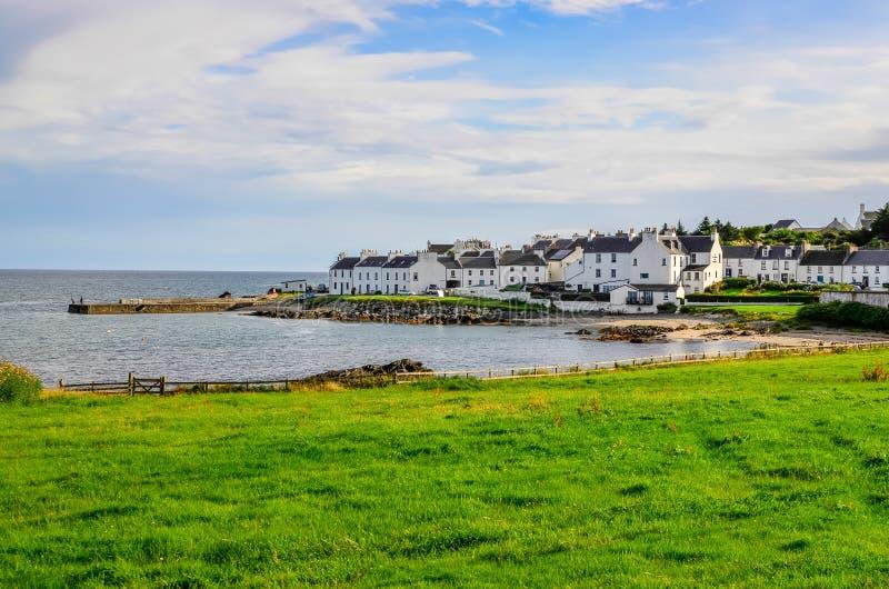 Mening van haven en stadshaven Charlotte op Eiland van Islay royalty-vrije stock afbeelding