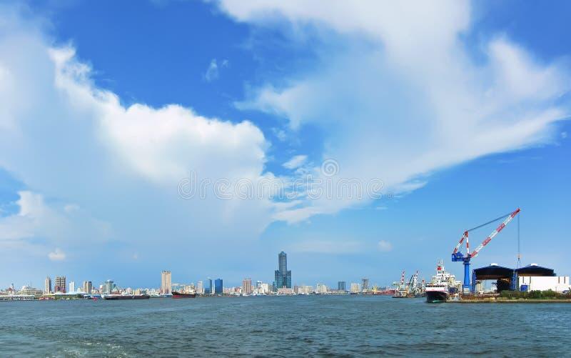 Mening van Haven Kaohsiung royalty-vrije stock afbeeldingen