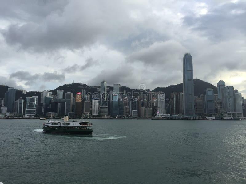 Mening van het Eiland van Hong Kong stock foto's