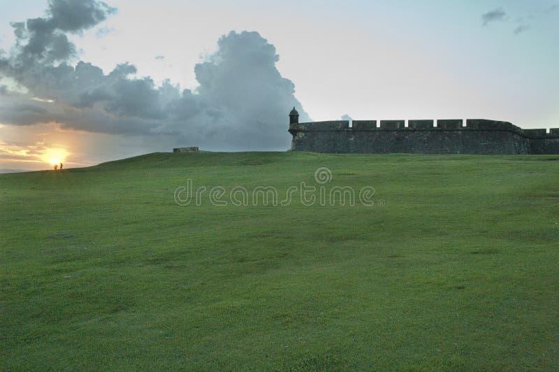 Mening van het fort van Gr Morro in San Juan stock foto