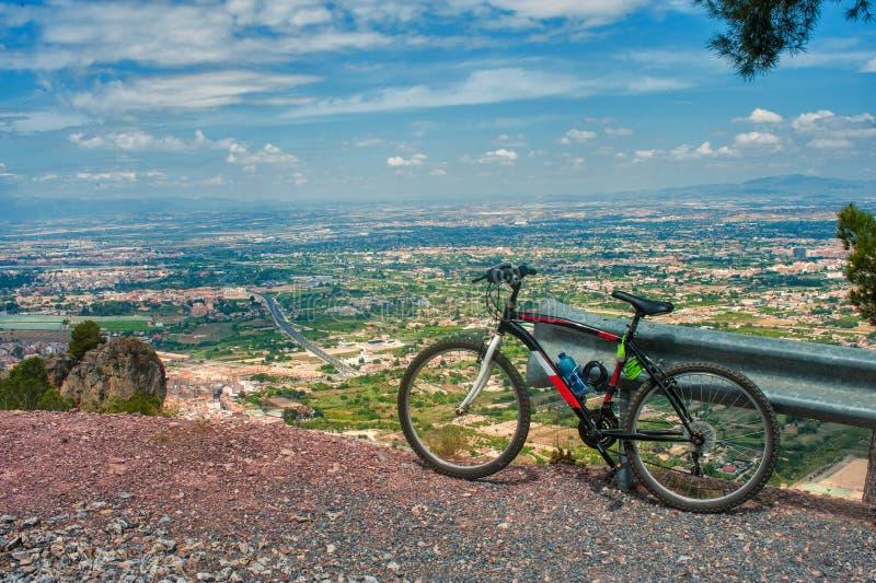 Mening van het gebied van Murcia in Spanje van een heuvel stock foto's
