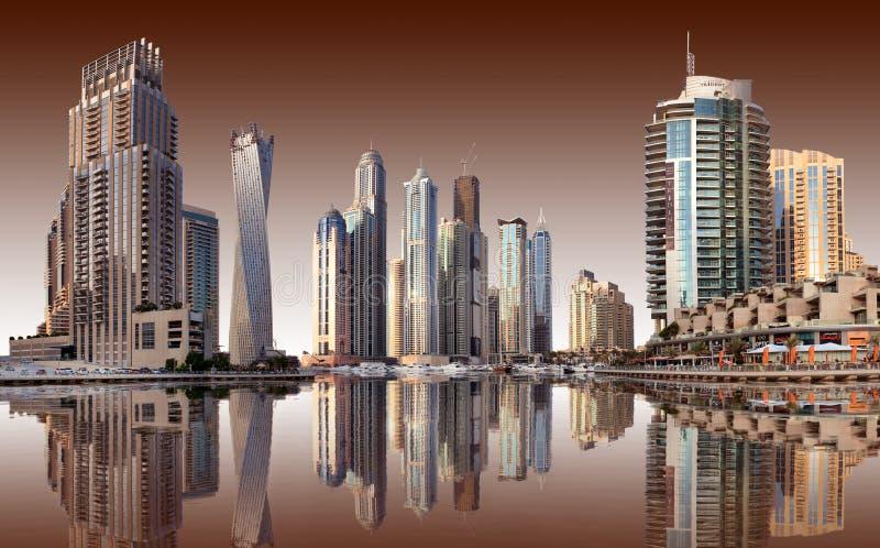Mening van het gebied van Doubai stock foto