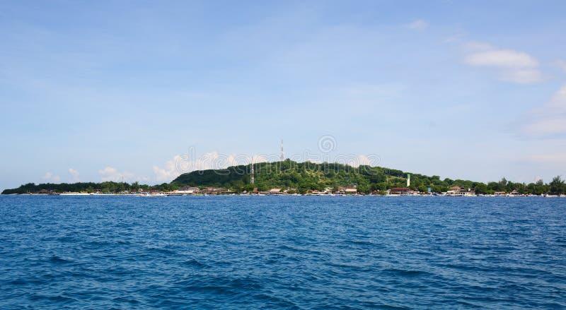 Mening van het Gili Air-eiland in Lombok, Indonesië royalty-vrije stock afbeelding